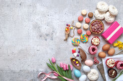 Spring easter food bakery selection Royalty Free Stock Photo