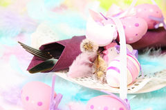 Spring, Easter place setting Royalty Free Stock Photo