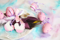 Spring, Easter place setting Royalty Free Stock Photography