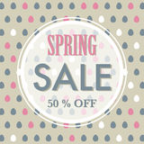 Spring or Easter sale background Royalty Free Stock Image
