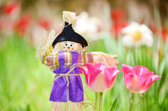 Spring easter scarecrow Royalty Free Stock Photo