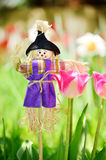 Spring easter scarecrow Royalty Free Stock Photos