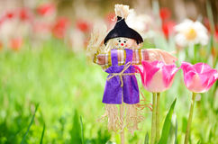 Spring easter scarecrow Royalty Free Stock Images