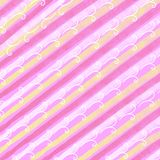 Spring Easter Stripes Pattern Stock Photography