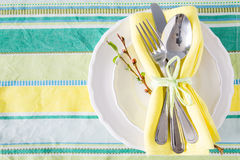 Spring easter table setting Stock Images