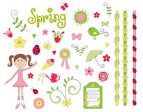 spring elements Royalty Free Stock Photos