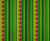 Spring elements denim. Denim fabric background with spring motifs Stock Images