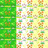 Spring elements vector pattern Stock Photos