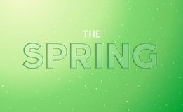 The spring embossed lettering Royalty Free Stock Photography