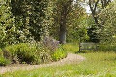 Spring english garden landscape Royalty Free Stock Image