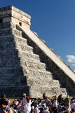 Spring Equinox 2012 At Chichen Itza Stock Photography