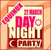 Spring equinox day party banner Royalty Free Stock Photo