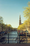 Spring evening in amsterdam Stock Photography