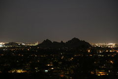 Spring Evening looking down from Camelback Mountain Royalty Free Stock Photo