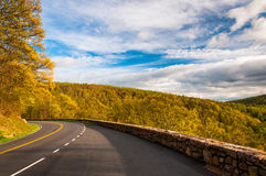 Spring evening on Skyline Drive in Shenandoah National Park, VA Royalty Free Stock Photos
