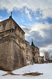 Spring evening view of old Pidhirtsi Castle Stock Photo