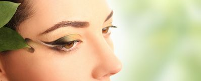 Spring eyes on green Royalty Free Stock Photos