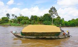 Spring för lastfartyg på Mekonget River Arkivbild