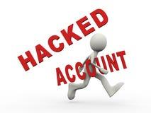 spring för person 3d med hackat konto Royaltyfri Fotografi