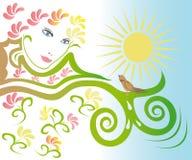 Spring face Royalty Free Stock Photos