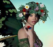 Spring fairy Stock Photography