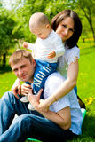 Spring family Royalty Free Stock Photo