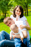 Spring family Stock Photography