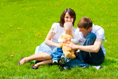 Spring family Stock Images
