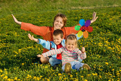 Spring family fun Stock Images