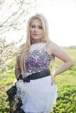 Spring fashion plus size blonde model Royalty Free Stock Photos