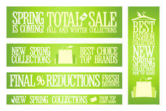 Spring fashion sale banners. Stock Image
