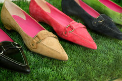 Spring Fashions. Spring fashion women's loafers Stock Photos