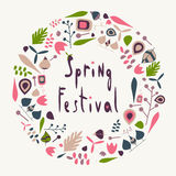 Spring festival circle Royalty Free Stock Image