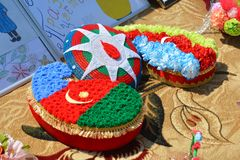 Spring festival of flowers, school festival in Baku city Royalty Free Stock Photos