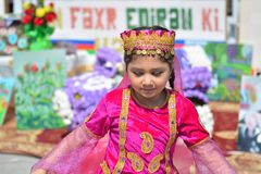 Spring festival of flowers, school festival in Baku city Royalty Free Stock Image