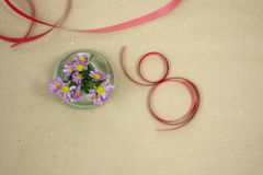 Spring festival. For girls to make a surprise for her holiday Stock Images