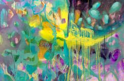 Spring festival. Multicolored texture painting. Abstract art background. Acrylic on canvas. Rough brushstrokes of paint. High resolution photo royalty free illustration
