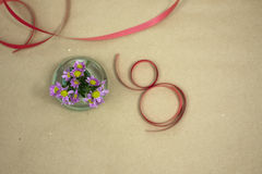 Spring festival. Small bouquet for a beautiful girl in her holiday Royalty Free Stock Image