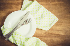 Spring Festive Table Setting with Cutlery. Royalty Free Stock Image