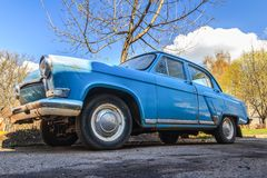 Spring fever of retro car Stock Images
