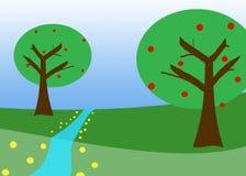 Spring Field Vector Illustration