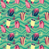 Spring field. Seamless floral pattern Stock Images