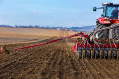 Spring field works Royalty Free Stock Photo