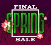 Spring Final Sale vector illustration. For advertising banner, flyer, catalog etc Stock Photo