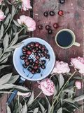 Ð¡ountryside spring flatlay top view royalty free stock photography