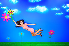 Spring flight Stock Photo