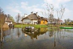 Spring flood, Belarus Royalty Free Stock Image