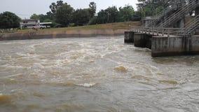 Spring flood water whirlpool stock video footage