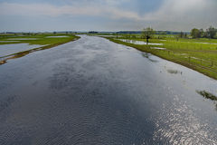 Spring flooding river Biebrza, Poland Stock Images