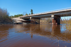 Spring flooding on the river Stock Photography